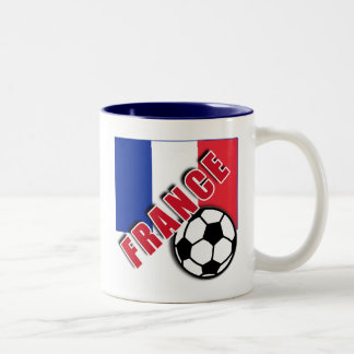 FRANCE World Soccer Fan Tshirts Two-Tone Coffee Mug