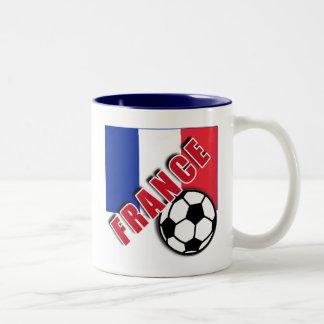 FRANCE World Soccer Fan Tshirts Two-Tone Mug