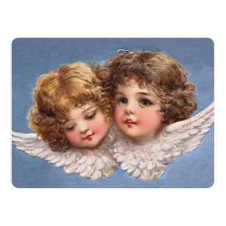 Frances Brundage: Angel Couple 1 17 Cm X 22 Cm Invitation Card
