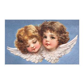 Frances Brundage: Angel Couple 1 Stretched Canvas Print