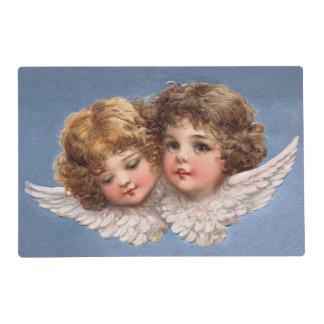 Frances Brundage: Angel Couple 1 Laminated Place Mat