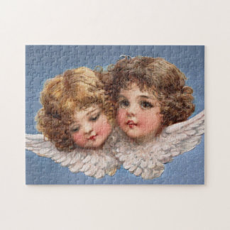 Frances Brundage: Angel Couple 1 Jigsaw Puzzle