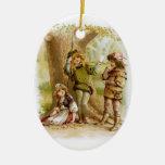 Frances Brundage: Celia, Rosalind, and Orlando Ornaments