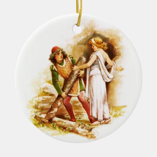 Frances Brundage: Ferdinand and Miranda Christmas Ornaments