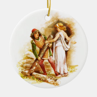 Frances Brundage: Ferdinand and Miranda Round Ceramic Decoration