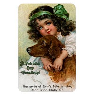 Frances Brundage: Girl with Dog Magnet