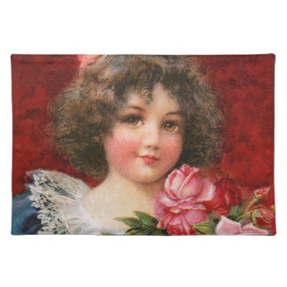 Frances Brundage Girl with Roses Placemat