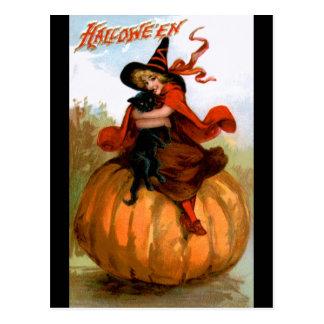 Frances Brundage: Halloween Witch Postcard