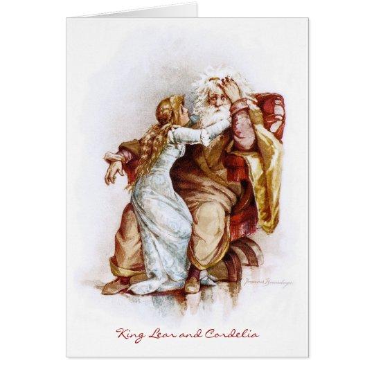 Frances Brundage: King Lear and Cordelia Card