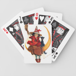 Frances Brundage: Witch on Sickle Moon Bicycle Playing Cards