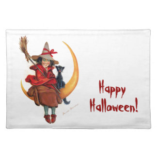 Frances Brundage Witch on Sickle Moon Placemats
