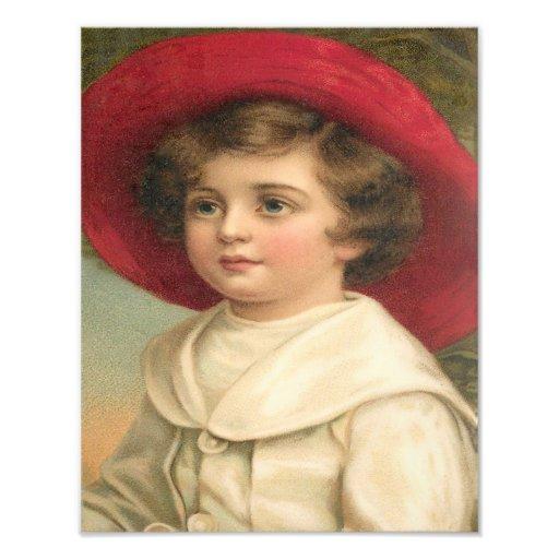 "Frances Brundage ""Young Boy in a Hat"" Art Photo"