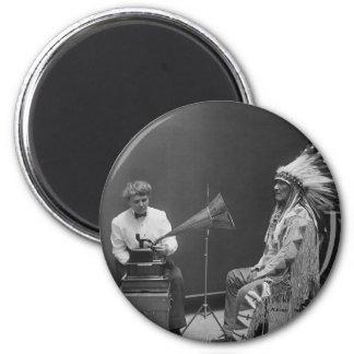 Frances Densmore Audio Recording Blackfoot Chief 6 Cm Round Magnet