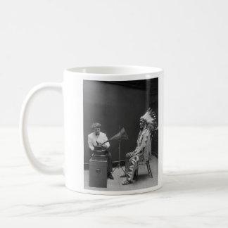 Frances Densmore Audio Recording Blackfoot Chief Coffee Mug