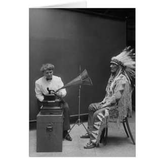 Frances Densmore Audio Recording Blackfoot Chief Greeting Card