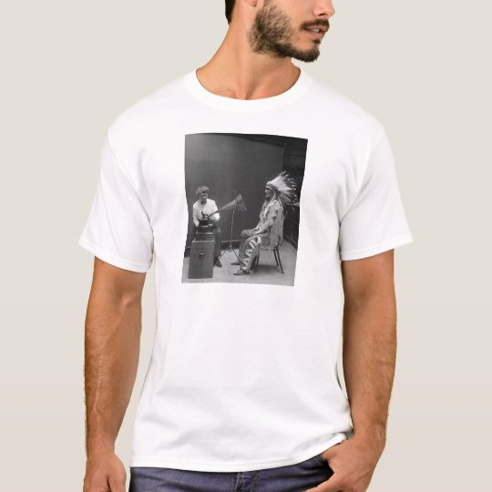 Frances Densmore Audio Recording Blackfoot Chief T-Shirt