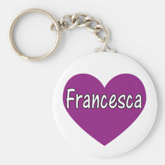 Francesca Basic Round Button Key Ring
