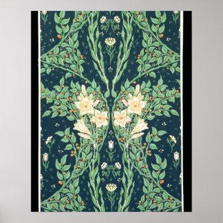 Francesca wallpaper design poster