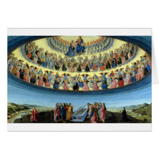 Francesco_Botticini_-_The_Assumption_of_the_Virgin Greeting Card