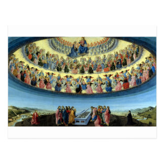 Francesco_Botticini_-_The_Assumption_of_the_Virgin Postcard