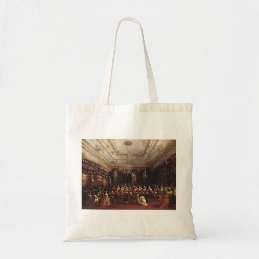 Francesco Guardi- Ladies Concert at Hall Canvas Bags
