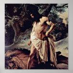 Francesco Hayez - Samson and the Lion Print