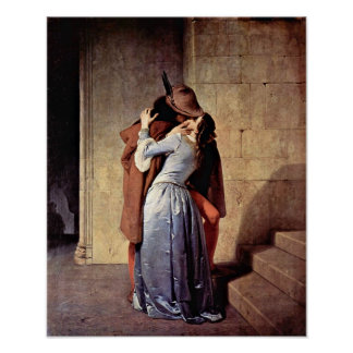 Francesco Hayez - The Kiss Poster