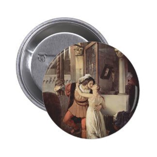 Francesco Hayez- The last kiss of Romeo and Juliet 6 Cm Round Badge