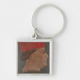 Francesco Sforza  Duke of Milan Silver-Colored Square Key Ring