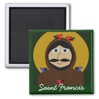 Francis and the Birds Square Magnet
