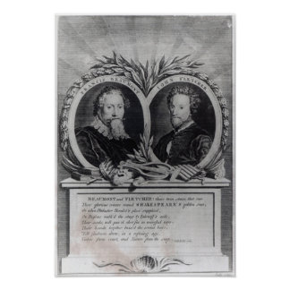 Francis Beaumont and John Fletcher Poster