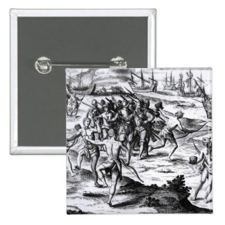 Francis Drake  in the New World 15 Cm Square Badge