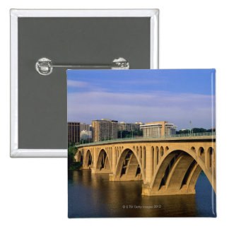 Francis Scott Key Bridge in daylight 15 Cm Square Badge
