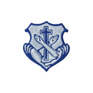 Franciscan logo - crest embroidered hooded sweatshirt