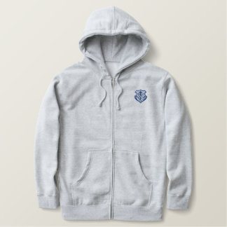 Franciscan logo - crest embroidered hooded sweatshirt