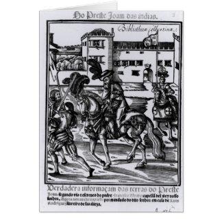 Francisco Alvarez on horseback Greeting Card
