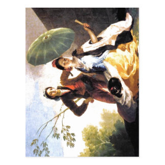 Francisco de Goya The Parasol Espa?ol: 1776-1778 T Postcard