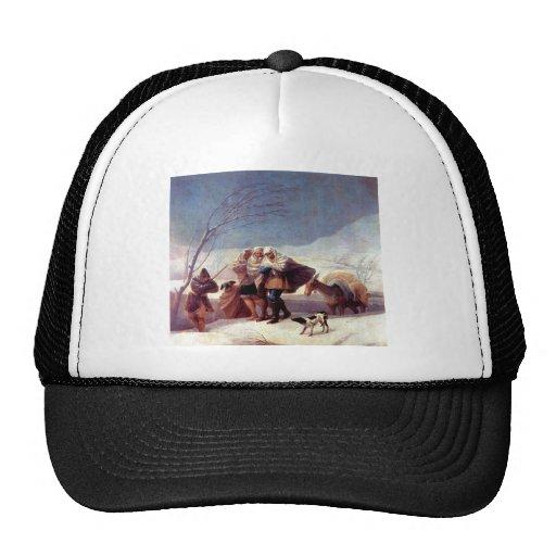 Francisco de Goya - The snowstorm Mesh Hat