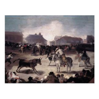 Francisco Goya- A Village Bullfight Postcard