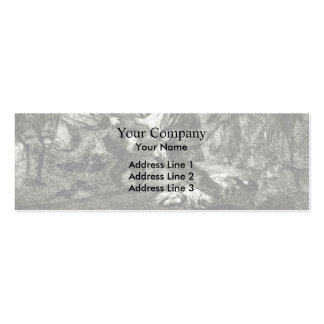 Francisco Goya- Absurdity funeral Business Card Template