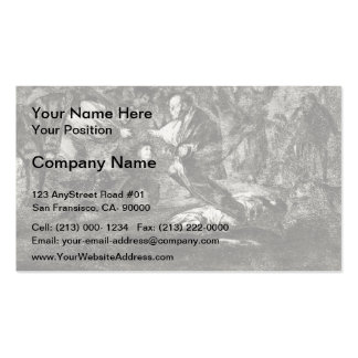 Francisco Goya- Absurdity funeral Business Card