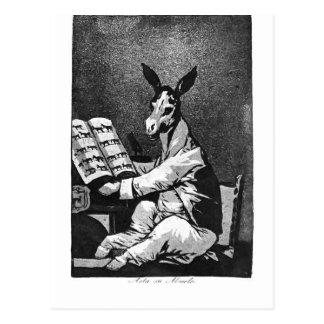 Francisco Goya- As Far back as his Grandfather Postcard