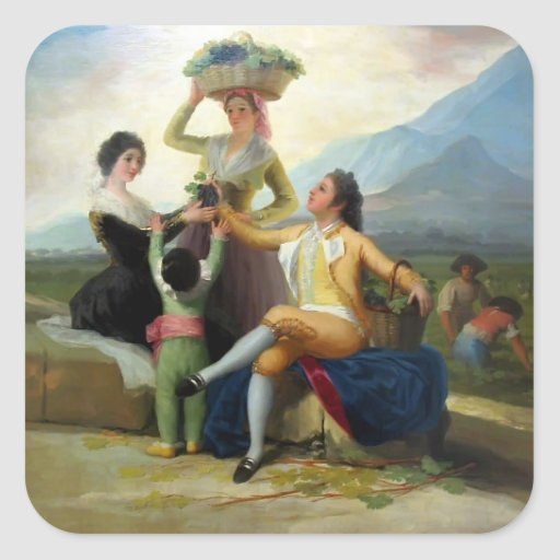 Francisco Goya- Autumn, or The Grape Harvest Stickers