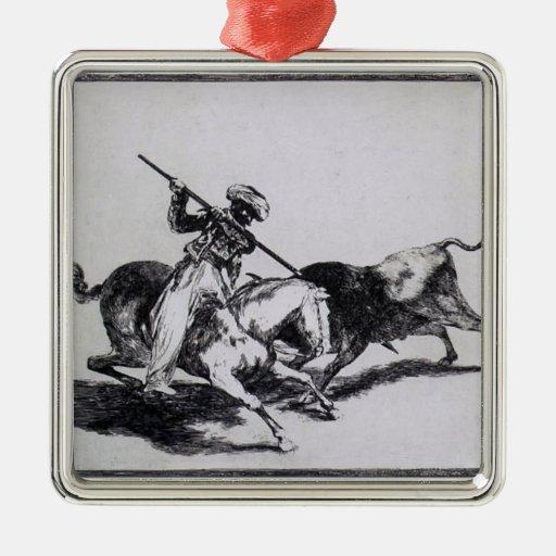 Francisco Goya- Morisco Gazul Fighting Bulls Ornament
