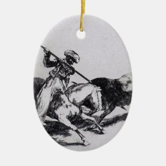 Francisco Goya- Morisco Gazul Fighting Bulls Christmas Ornament