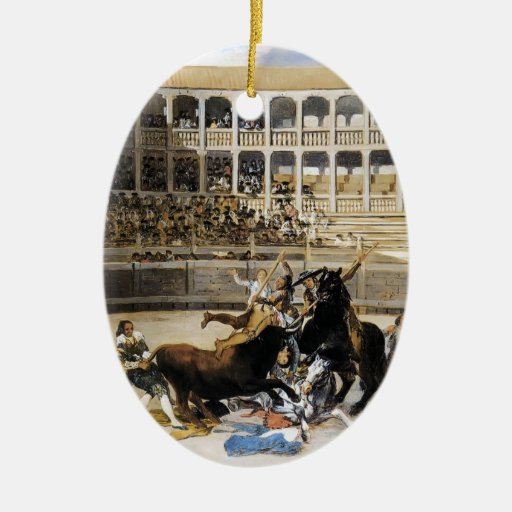Francisco Goya- Picador Caught by the Bull Ornaments
