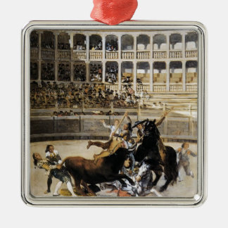 Francisco Goya- Picador Caught by the Bull Christmas Ornament