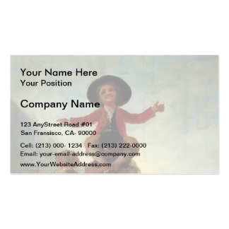 Francisco Goya- Playing at Giants Business Cards