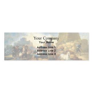Francisco Goya- Summer or The Harvest Business Card
