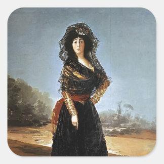 Francisco Goya- The Duchess of Alba Square Sticker